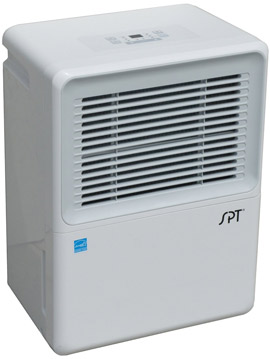 SPT SD-72PE Dehumidifier with Built-In Pump and 2 Fan Speeds